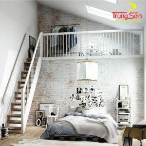 Phối cảnh gạch cổ nội thất phòng ngủ