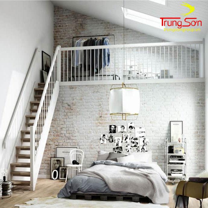 Gạch cổ ốp tường phòng ngủ
