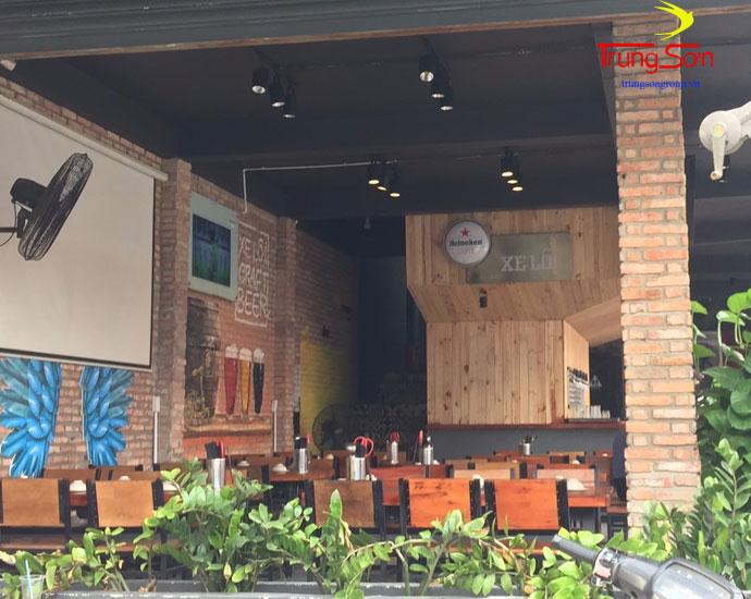 Gạch cổ trang trí nhà hàng
