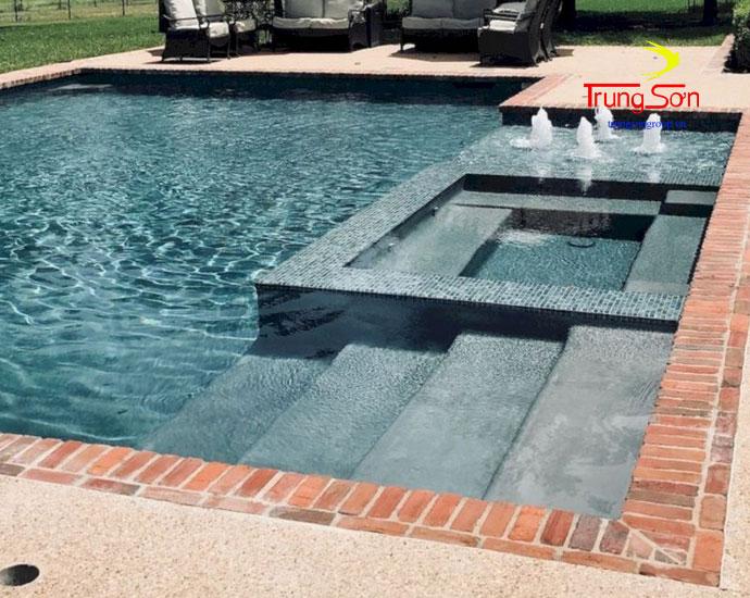 Gạch cổ viên xây hồ bơi